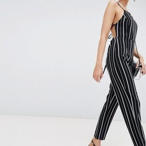 PrettyLittleThing Stripe Jumpsuit
